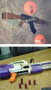 Guns Fake and Real