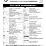 photo of police academy bulletin