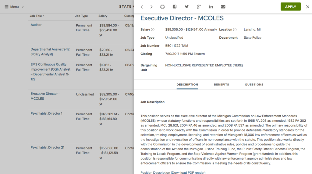 Mcoles Looking For New Executive Director Poam
