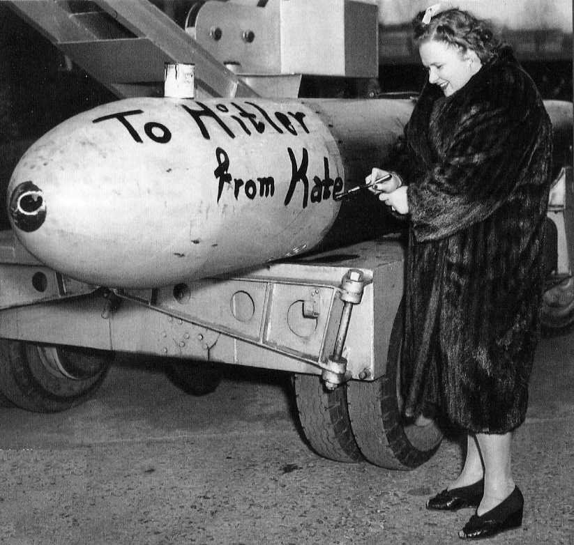 kate smith with bomb for hitler