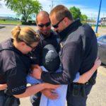 donut boy gets hugs from michigan police