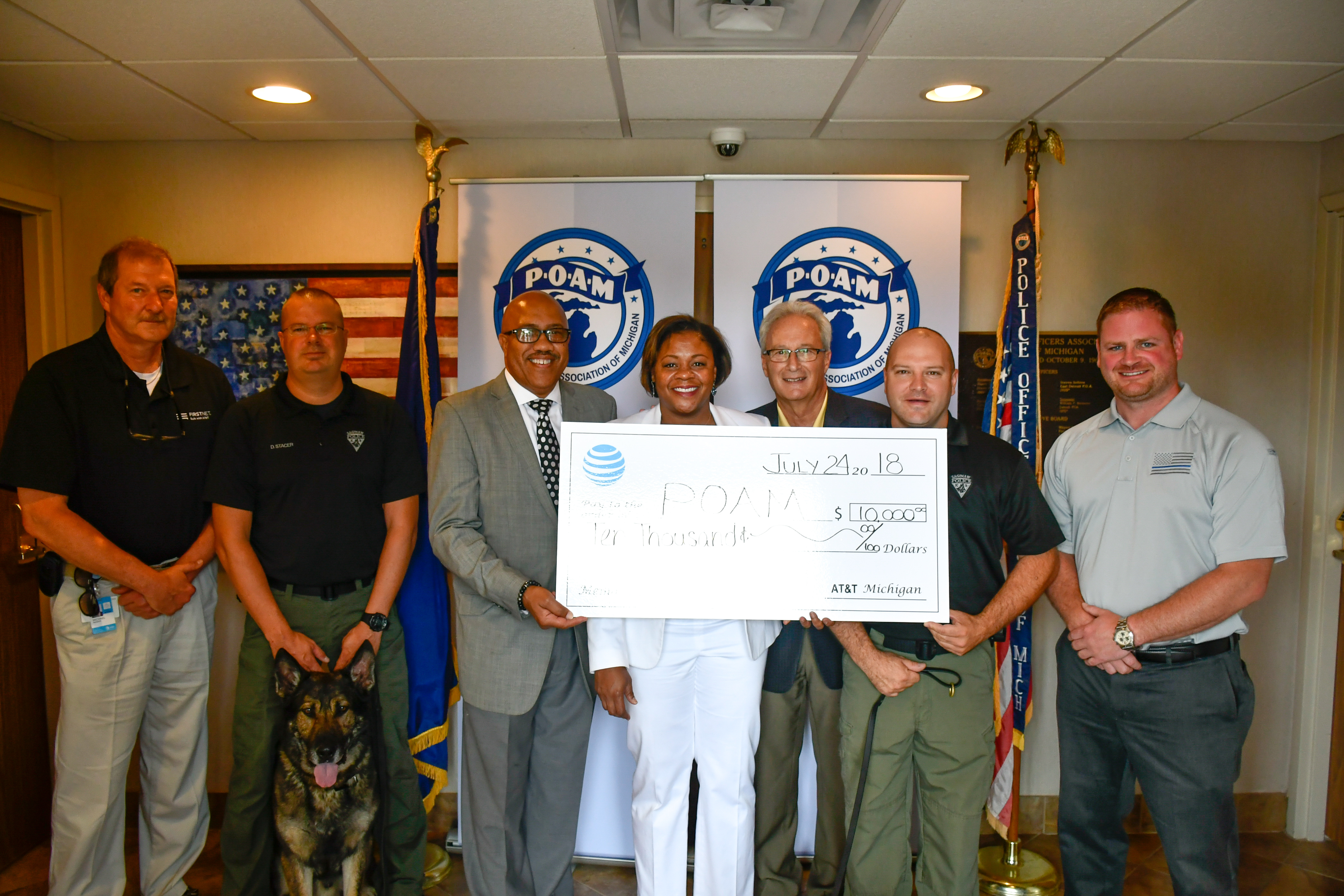 Saginaw Police K9 unit Law Enforcement Grant Winner