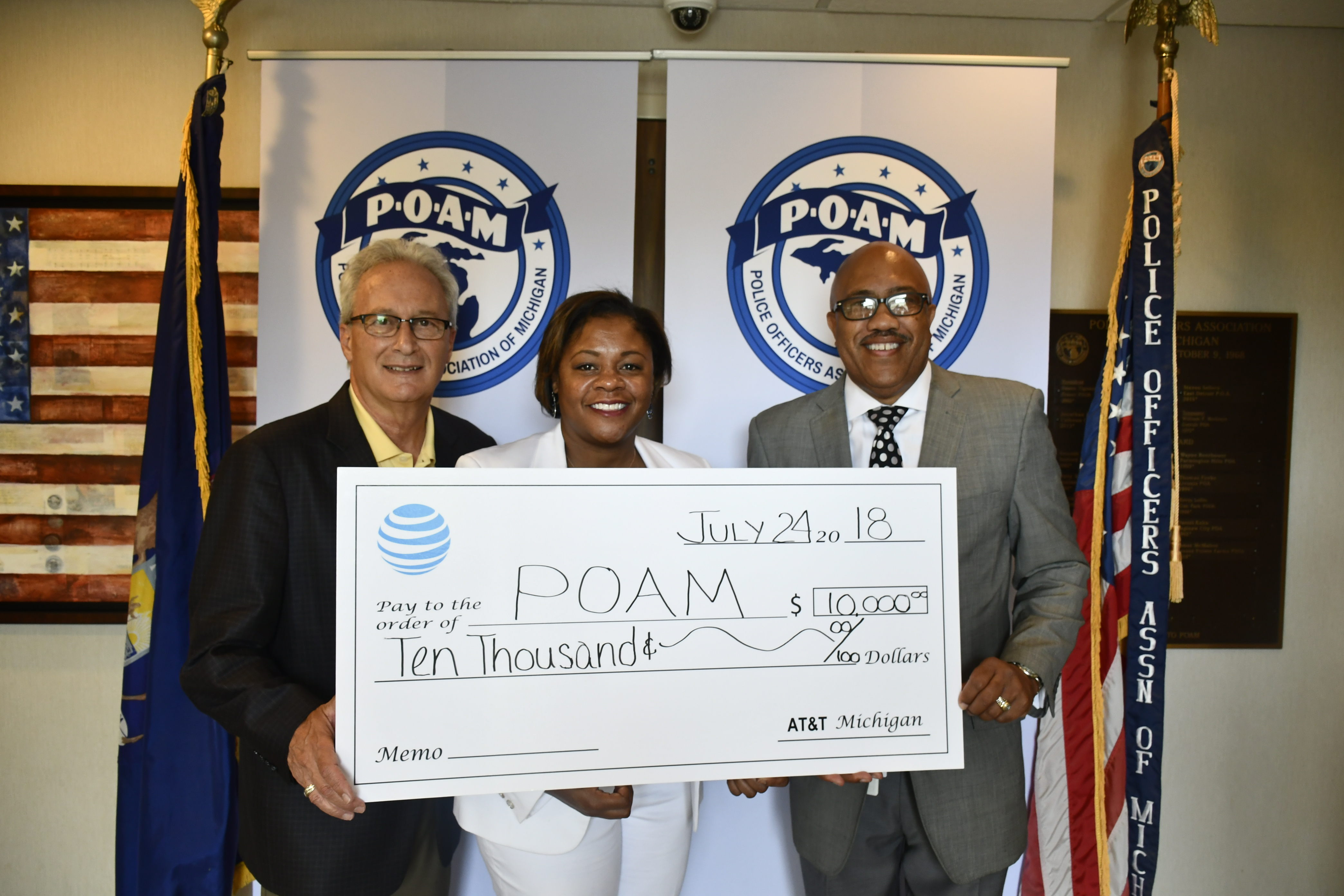 Law Enforcement Grant from POAM, AT&T Michigan