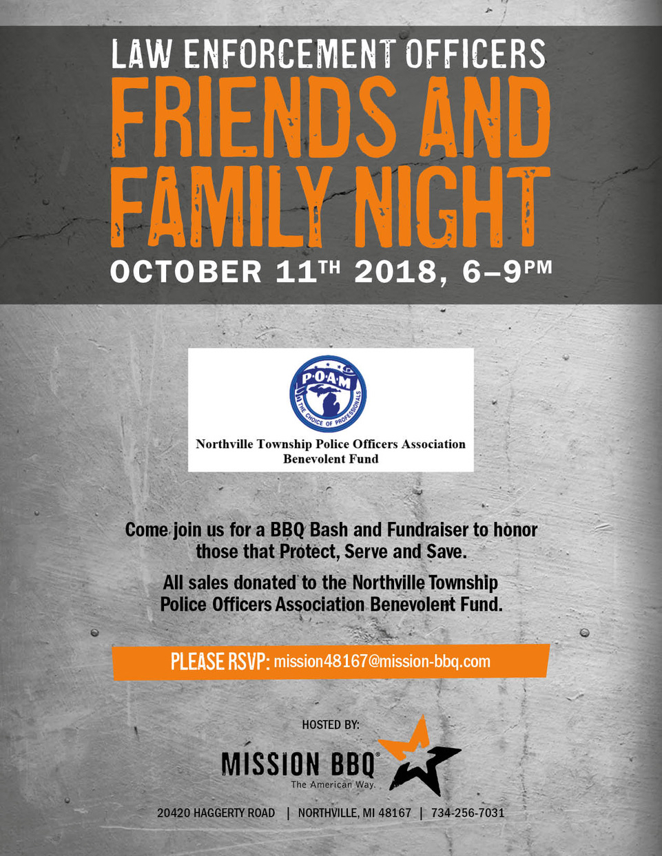 Friends and Family Night Poster