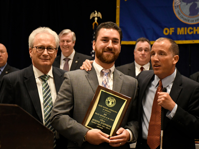 Joseph Stephens - POAM 2019 Police Officer of the Year Award Recipient