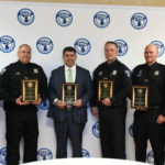 Shelby Township Officers at the POAM Annual Convention 2019 with their Awards.