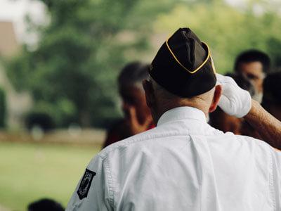 Veteran saluting | Veteran fundraiser event posting image