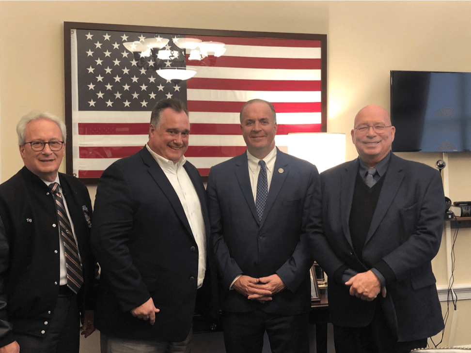 POAM Congressional Trip to Washington D.C. | President Jim TIgnanelli, Executive Board Member Dan Kuhn, Representative Dan Kildee, and Legislative Director Kenneth E. Grabowski.