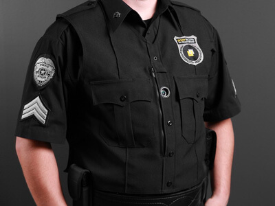 Body-Worn Camera on a police officer