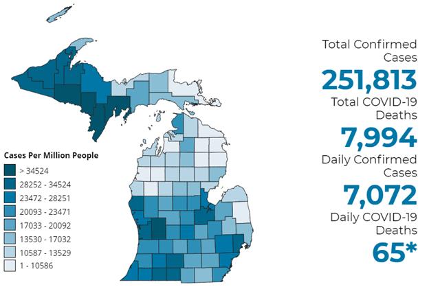 Michigan Coronavirus Map Update | November Updates