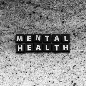 Mental Health letter blocks   SAMHSA Bulletin information
