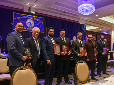 Dearborn Heights Police Department - Officers received POAM Police Officer of the Year awards