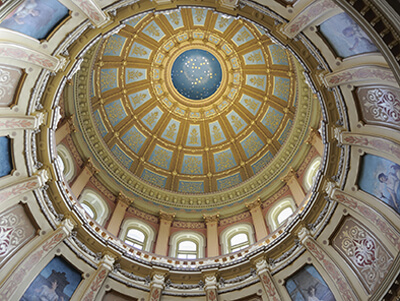 Legislative building ceiling with paintings   MI Safer Communities on POAM.net